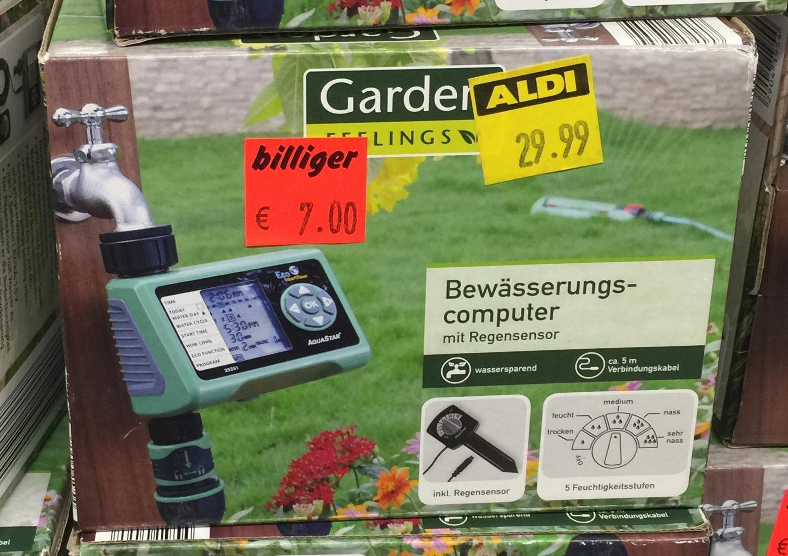 [Aldi Lünen Cappenbergerstr.98] Bewässerungscomputer mit Regensensor 7€ statt 30€