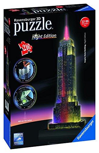 Ravensburger 3D Puzzle Night Edition, unterschiedliche Modelle ab 14,69 € @ amazon prime