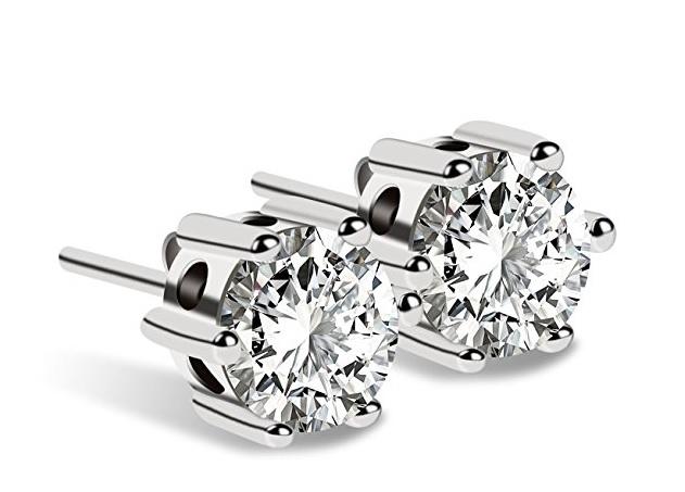 J.Rosée Damen Ohrstecker Ohrringe Set Basic 925 Sterling Silber mit Zirkonia