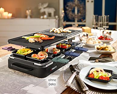 8-Personen Raclette Grill mit Granitplatte ab Samstag bei ALDI Süd [AB SA 19.11.]