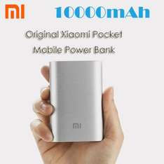 Original Xiaomi Pocket 10000mAh Mobile Power Bank  -  SILBER [Gearbest]