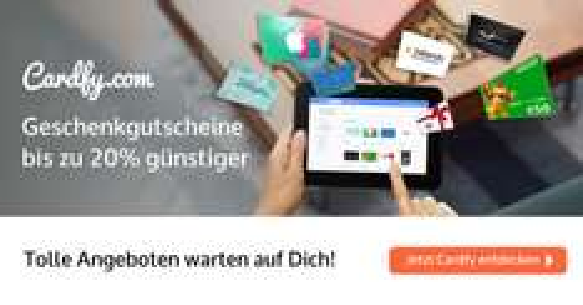 Cardfy - 2% MEHR Rabatt - Code GUENSTIGER