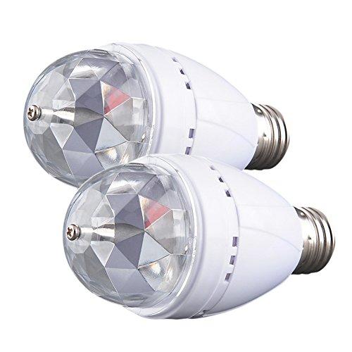 2 Stück 3W E27 RGB Partylicht Lampe Discolampe Farbwechsel LED --> 5,99 € inkl. Versand --> statt 9,99 €