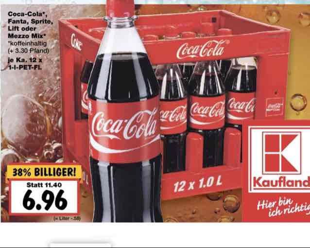 1l Kiste Coca Cola Kaufland (evtl. Lokal Bayern)