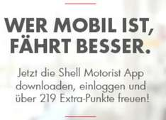 Shell Clubsmart 219 Punkte Gratis für App Download