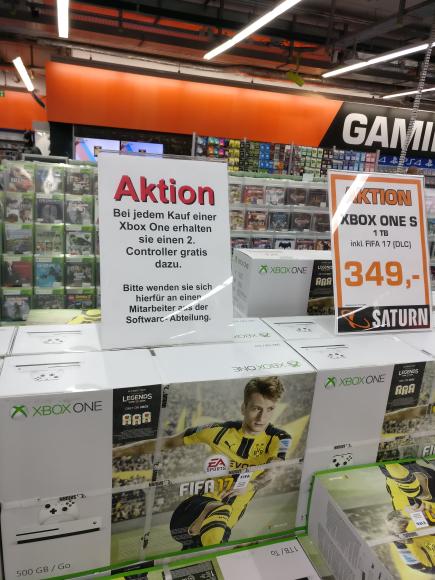 [Saturn Stuttgart] Xbox One S - bei jedem Kauf eines Bundels, ein Controller Gratis