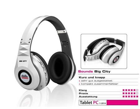 SOUNDS Big City, Premium Bluetooth Kopfhörer Headset (All-In-One) KS780 , Stereo, Weiß für 22,99€ mit Gutschein
