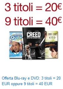[Amazon.it] 9 Blurays / DVDs für 44 Euro - riesige Auswahl