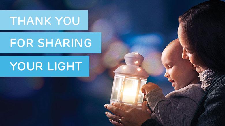 Share your Light - Nachricht an Kranke Kinder senden