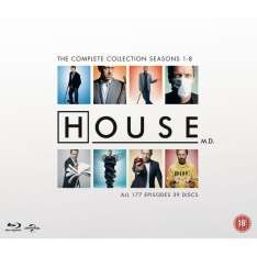Dr. House - Die komplette Serie (Staffel 1-8) (dt. Tonspur) (Bluray) für 44,81€ [Amazon.co.uk]