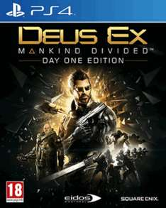 Deus Ex: Mankind Divided - Day One Edition (PS4 / XBO) für 24,50€ [Game.co.uk]