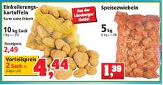 Kartoffel 20kg für 4,44€ oder Zwiebel 5kg für 1,39€  bei thomas-philipps