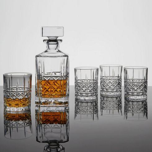5-teiliges Whiskey-Set aus Kristallglas von Nachtmann