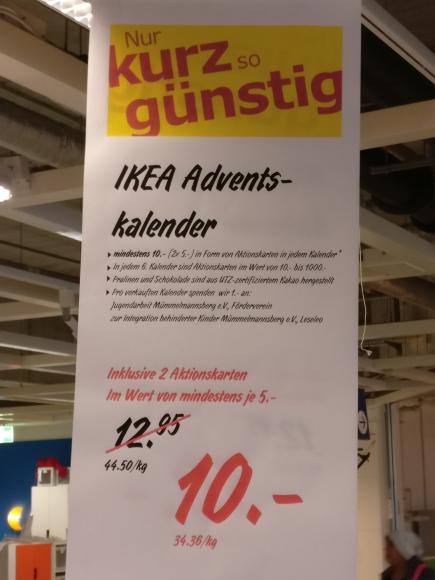 [Lokal?] ikea HH-Moorfleet Adventskalender für 10€