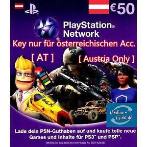 50€ PSN Guthaben für Österreicher @ebay