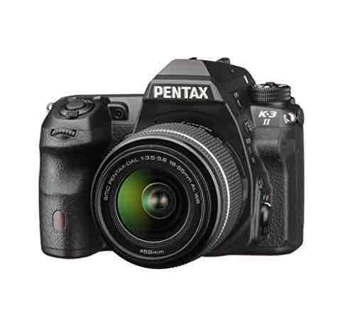 Pentax K-3II Gehäuse (24 Megapixel, 8 cm (3,2 Zoll) Display, Live-view, Full HD, GPS unit, Pixelshift) inkl. 18-55mm WR schwarz