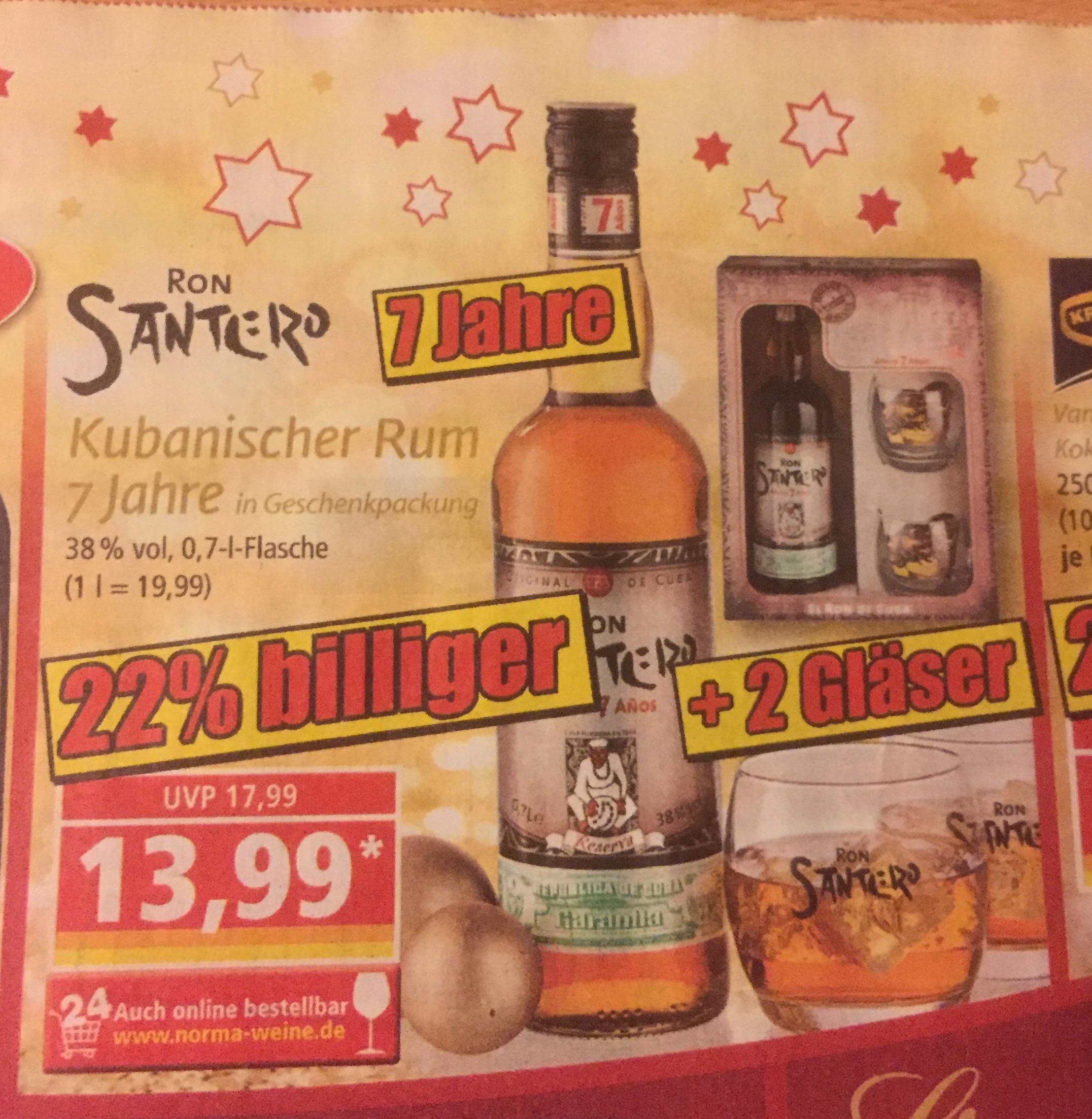[Norma Raum Landshut ] Ron Santero Kubanischer Rum 7 Jahre