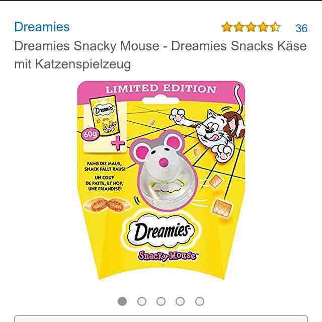 Dreamies Katzensacks: 3 Spielzeuge + 3 Beutel = 4.78 EUR
