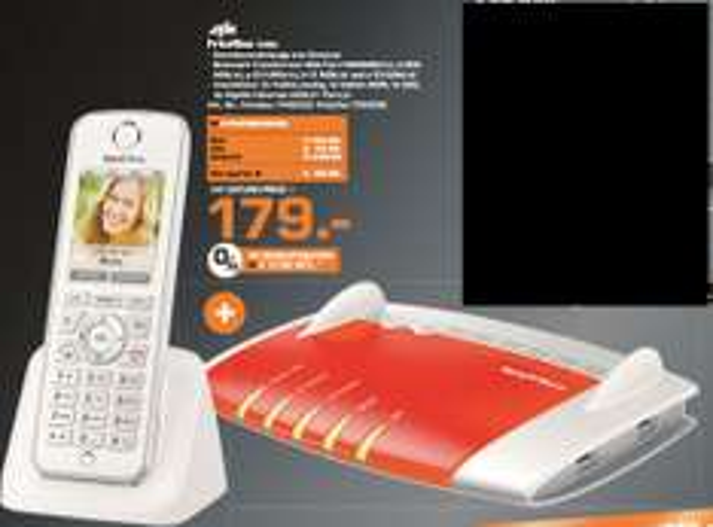[Lokal Saturn Kiel ab 23.11] AVM FRITZ!?Box 7490 WLAN Router mit integriertem DSL Modem + AVM FRITZ!?Fon C4 Schnurloses IP-Telefon für zusammen 179,-€