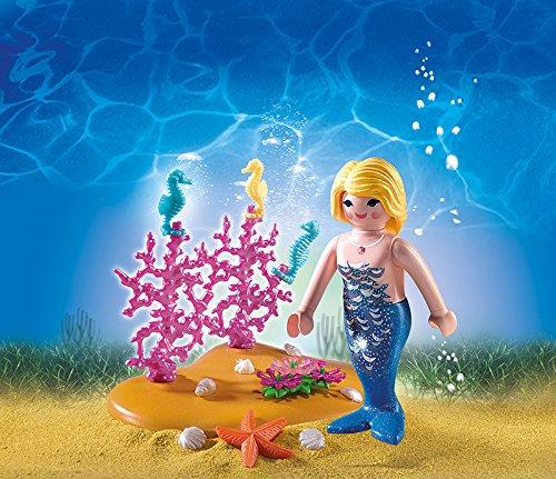 PLAYMOBIL 4946 - Meerjungfrau mit Seepferdchen; Pirat oder Fußballtortraining [Amazon Prime -70%]
