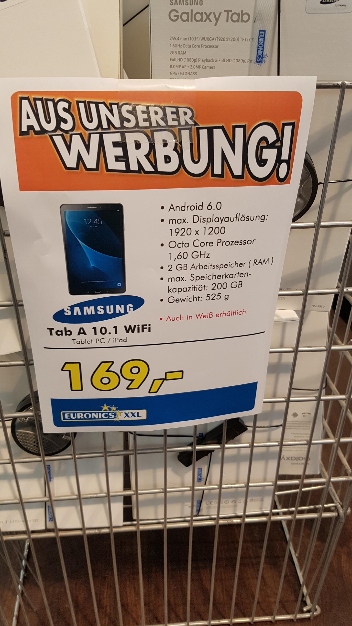 (Lokal) Samsung Tab A 10.1(6)WiFi Euronics XXL Ratingen