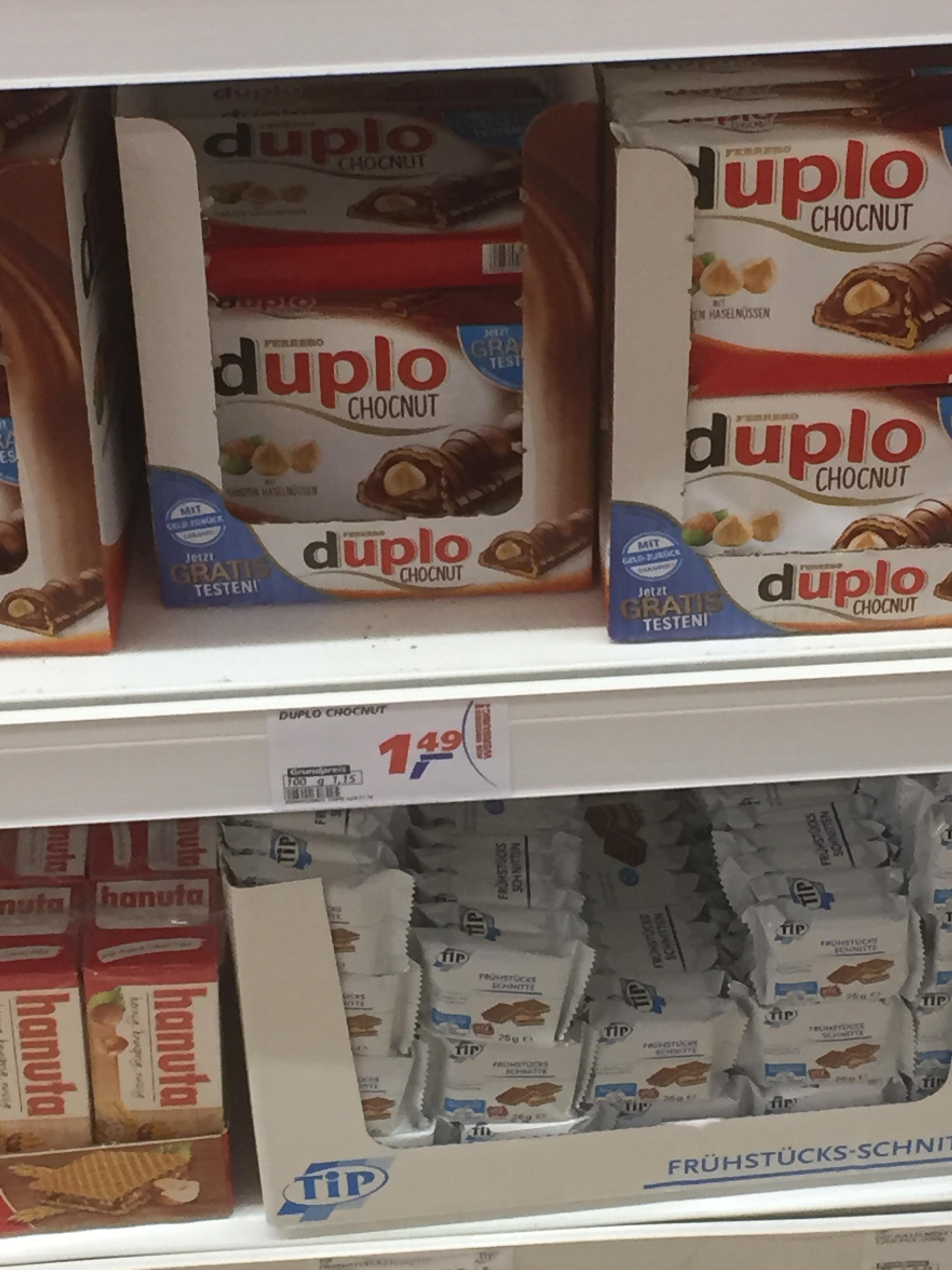 (Lokal) Real in Singen Duplo Choconut Aktionspackungen mit Code weiss und dunkel für 1,49€