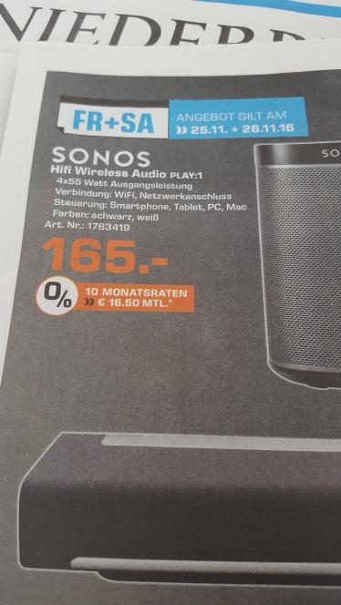 [Saturn Kreis Wesel] Sonos PLAY:1