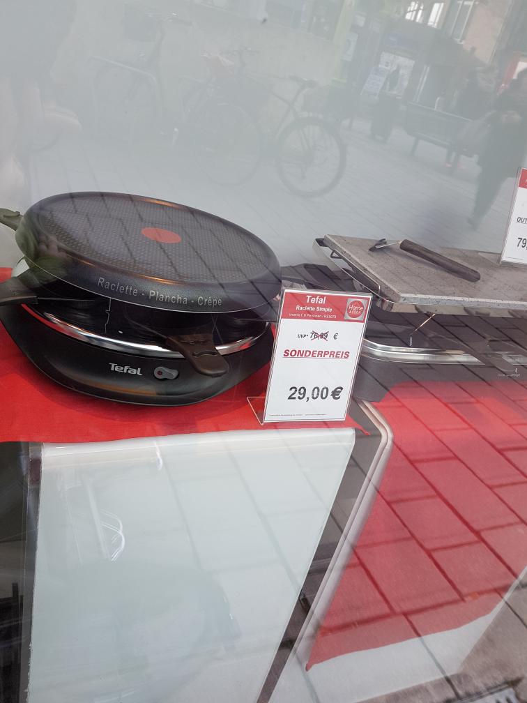 Lokal (Ahrensburg) - Tefal RE 5078 Raclette-Grill-Kombigerät