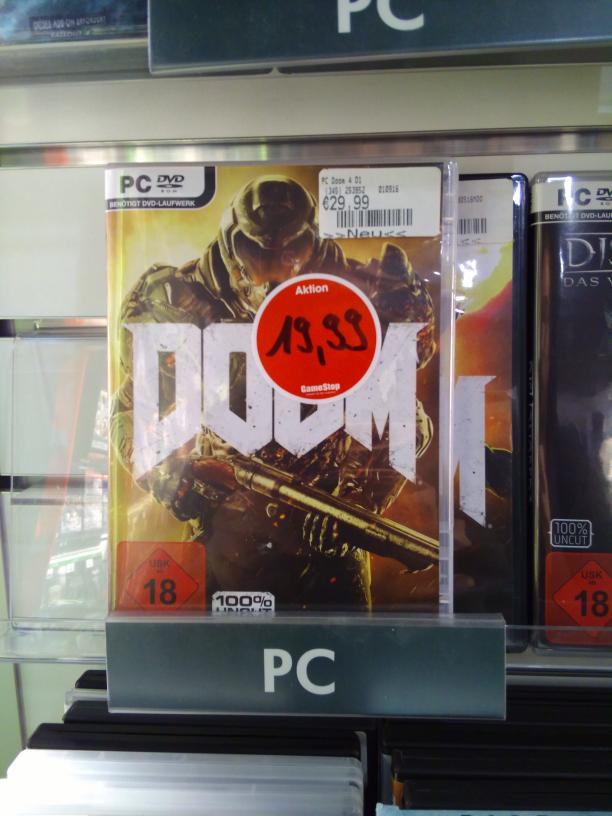 (lokal gamestop Köln) DOOM [pc] für 19,99