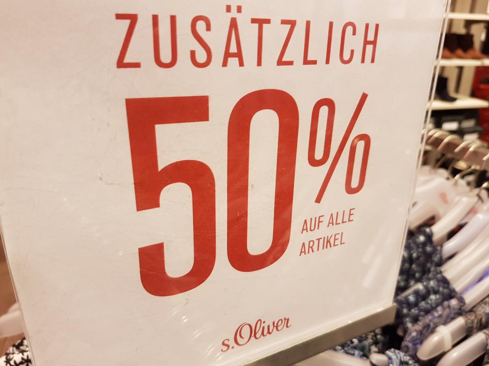 (Lokal Berlin) s.Olivers schließt 50% auf alles bis zum 26.11.2016