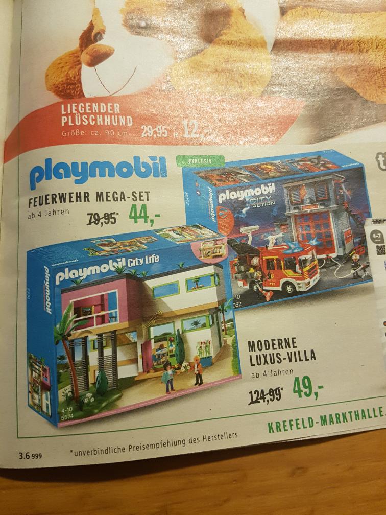 [Markthalle Krefeld real] Lokal - playmobil Feuerwehr Mega-Set 9052