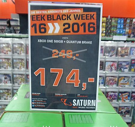 [Stuttgart] Xbox One + Quantum Break Bundle 174€ @Saturn