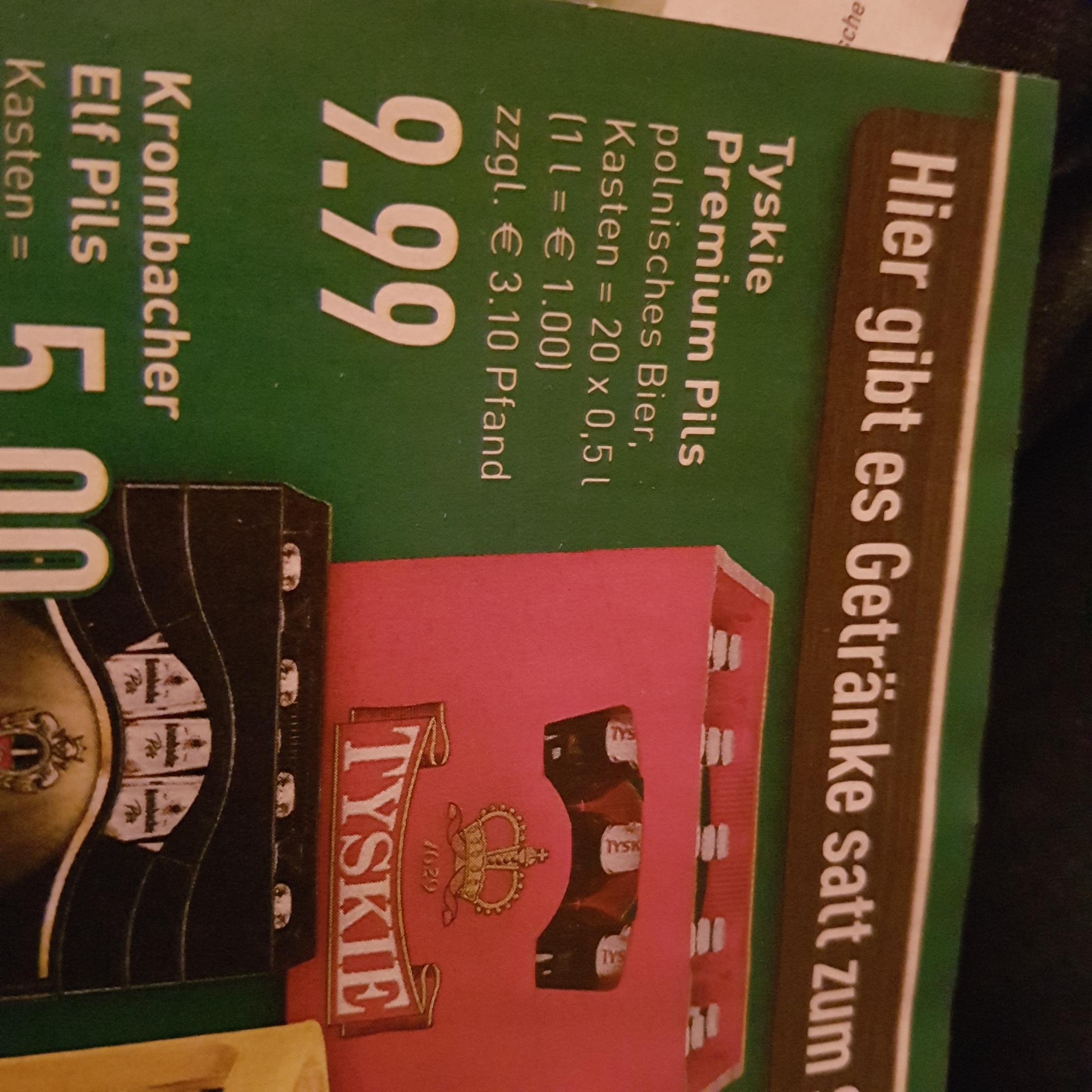 Tyskie Bier 20x0,5l  9,99€ lokal Marktkauf Iserlohn