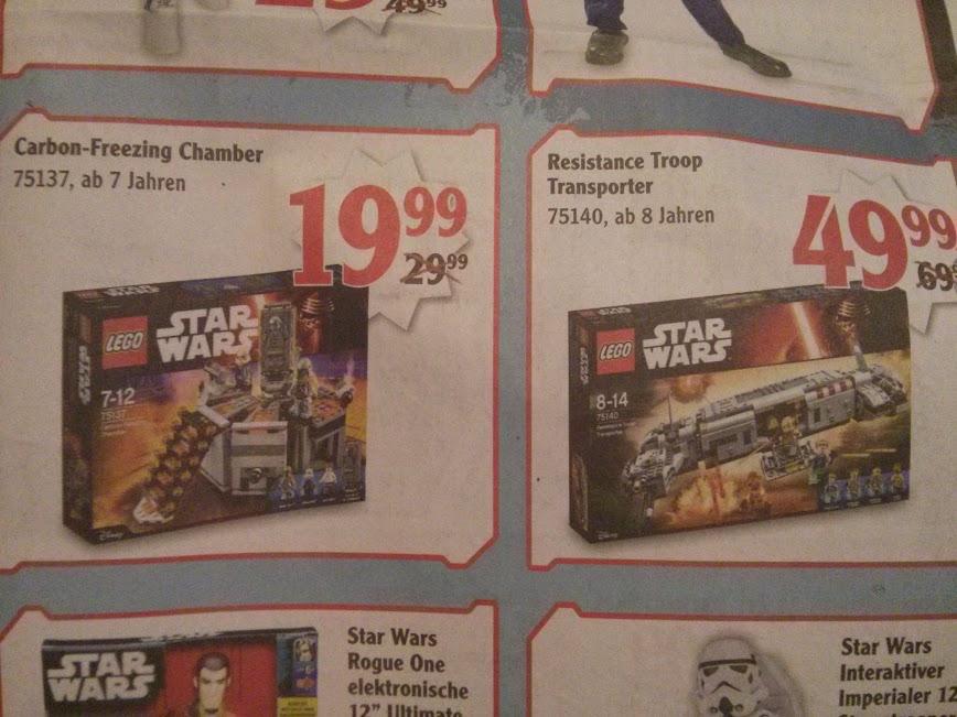 [Globus Forchheim] LEGO Star Wars 75137 - Carbon Freezing Chamber für 19,99€