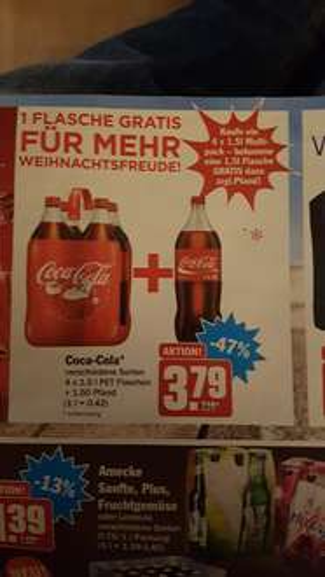 Coca Cola 7,5 Liter für 3,79 € im Hit + Pfand