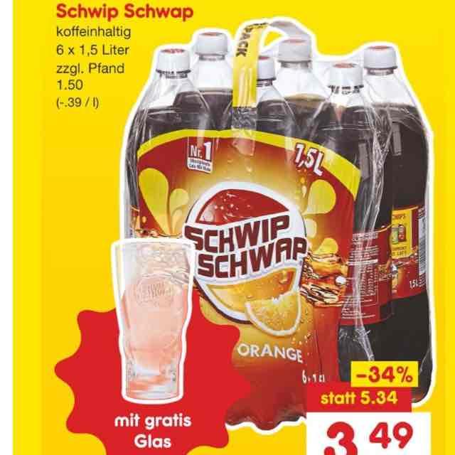 [Netto MD+Coupies] 6x 1,5l Schwip Schwap 0,27€ pro Liter plus ein Glas extra