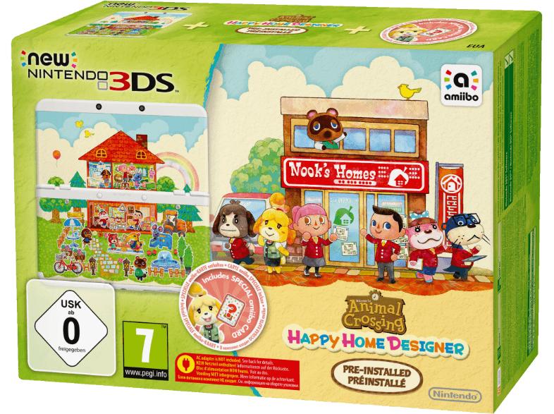 Nintendo New 3DS mit Animal Crossing: Happy Home Designer Pack für 149€bei Saturn @bf2016
