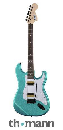 Fender Affinity Strat mit extra viel Glitzer (Blau, Grün, Pink)
