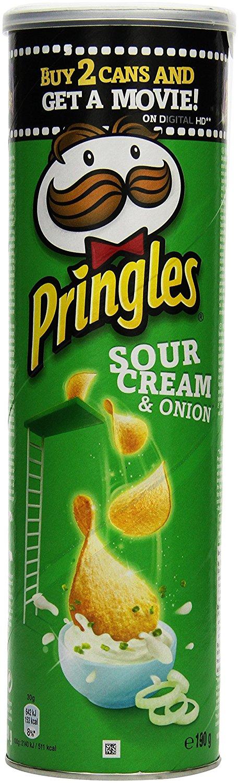 [amazon.de Prime ] Pringles Sour Cream and Onion, 4er Pack (4 x 190 g) für 5,56€ inkl. Versand