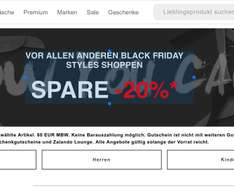 Black Friday Zalando Early Access 20 % auf über 95000 Items