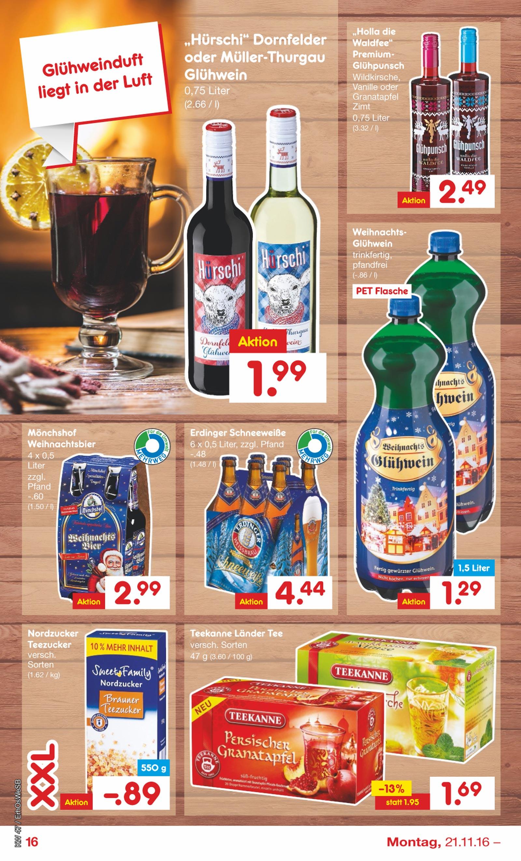 Netto Marken-Discount: 1,5 Liter Glühwein PET Flasche für 1,29 €