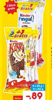 [Netto MD] Kinder Maxi King  3+1