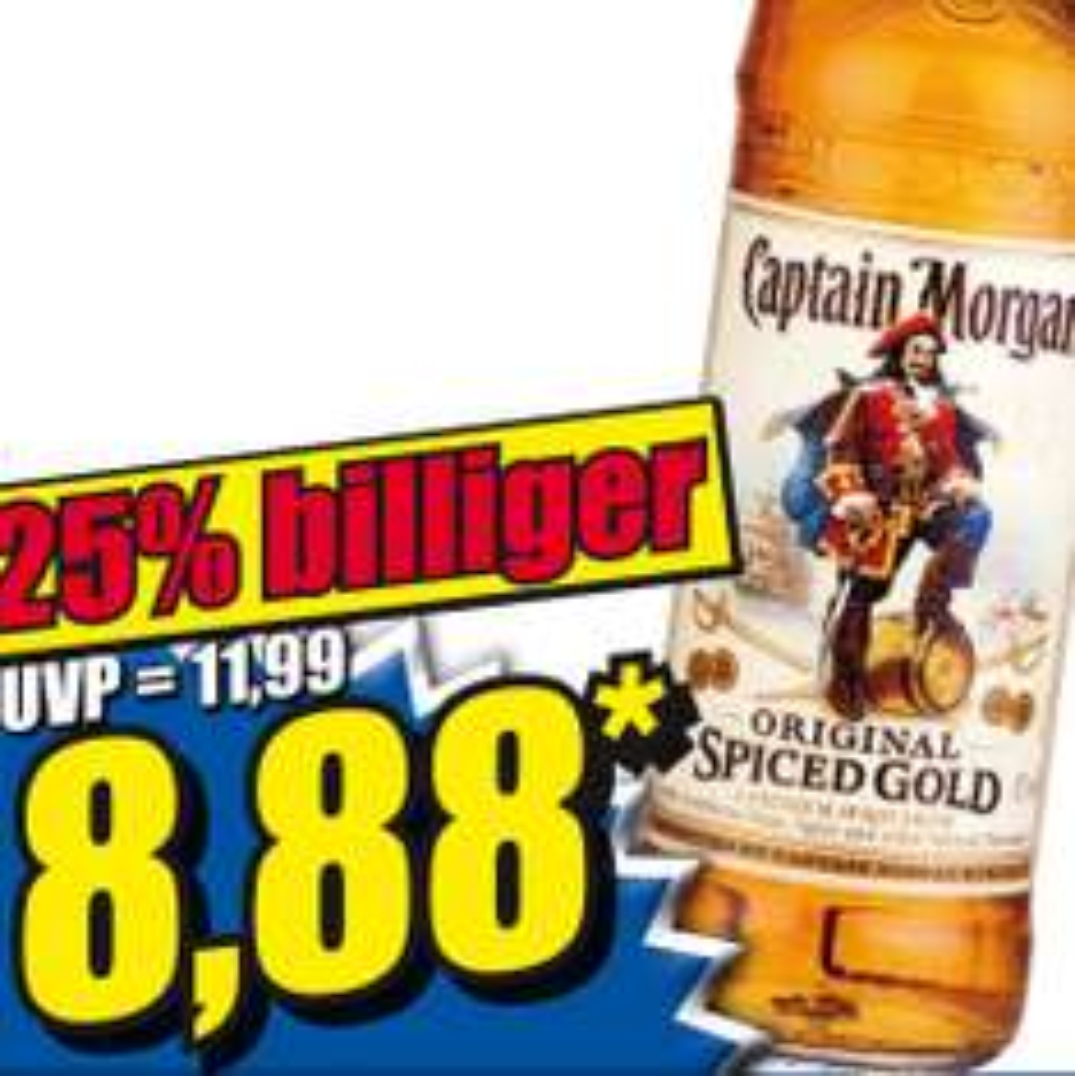 Captain Morgan 0,7L + gratis Krug ab Freitag für nur 8,88€ bei [Norma]