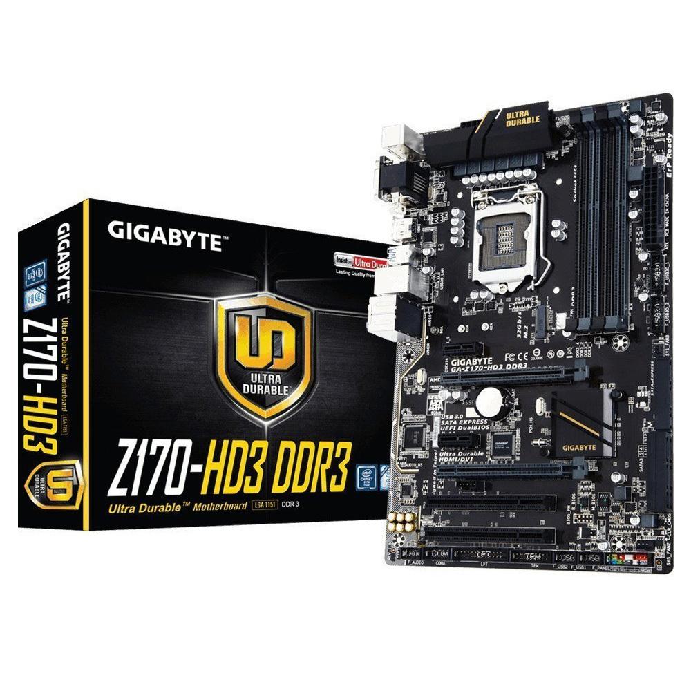 [NBB] Gigabyte GA-Z170-HD3 DDR3, ATX, Sockel 1151, 6 x SATA 3, HDMI, DVI, VGA > 68,99€