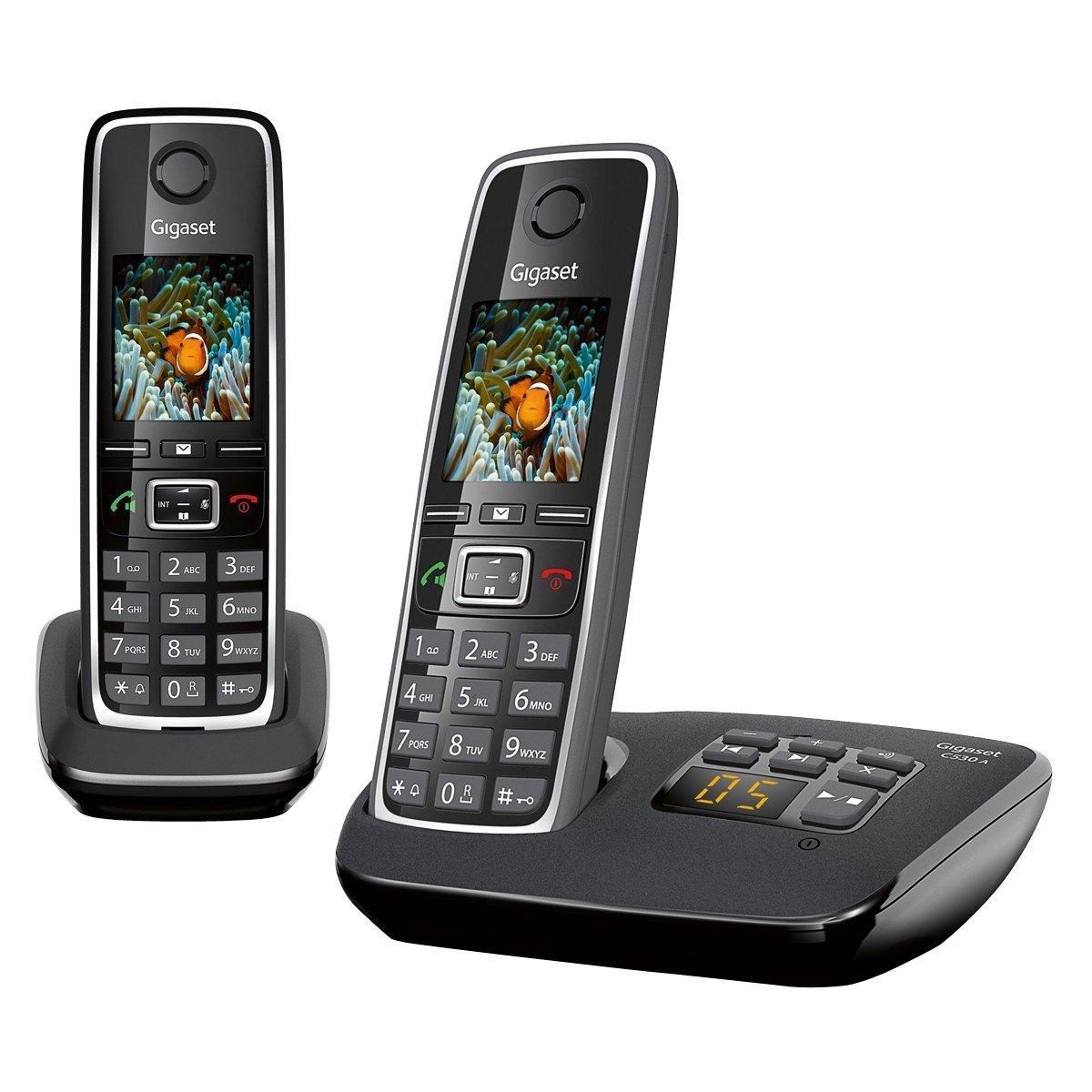 Gigaset C 530 A Duo - Schnurlostelefon mit Anrufbeantworter und 2. Handteil (amazon.it)