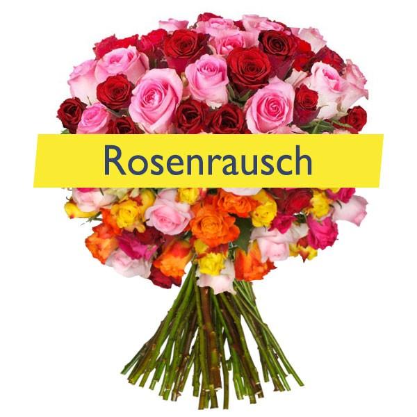Rosenrausch: 44 Rosen in mindestens zwei Farben oder mehr - 50 cm länge -->für 23,94€ inkl. VSK