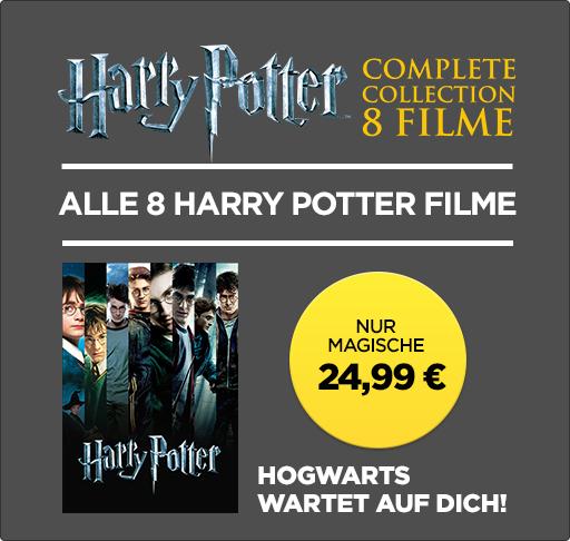 [wuaki.de] Alle Harry Potter Filme in HD zum Kauf für 25€