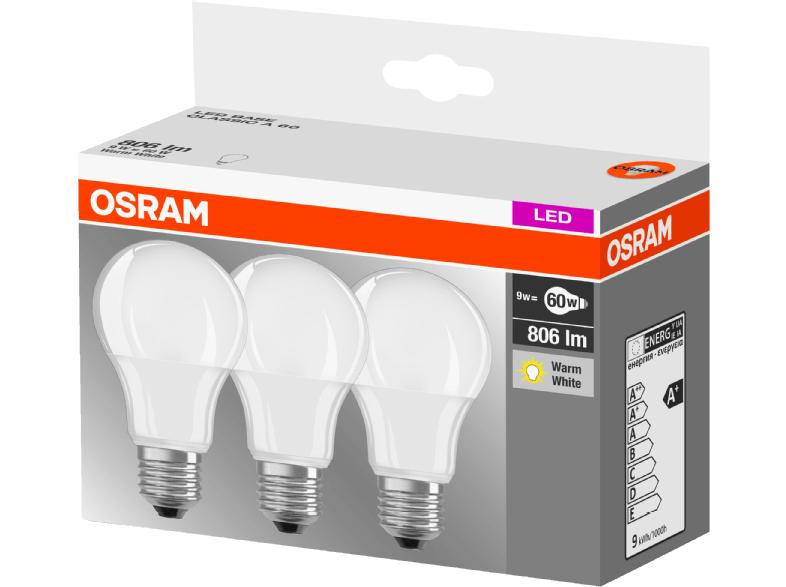 OSRAM CLA 60 3-tlg. LED Leuchtmittel für 8,49€ - ersetzt eine 60 Watt Glühbirne @bf2016