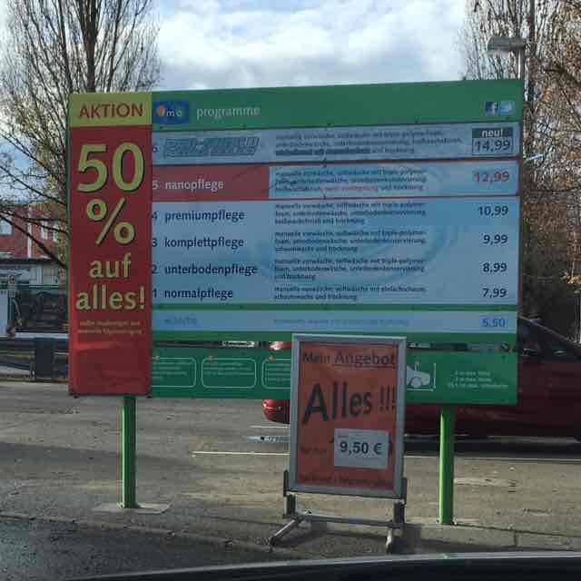 50% auf jede Autowäsche imo Triebstraße 11, 80993 München