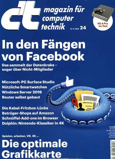 c't - 6 Ausgaben (Print oder digital) für 12,40€ durch 55% Rabatt